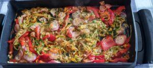 Aiguillettes-Poulet-Legumes-Plancha