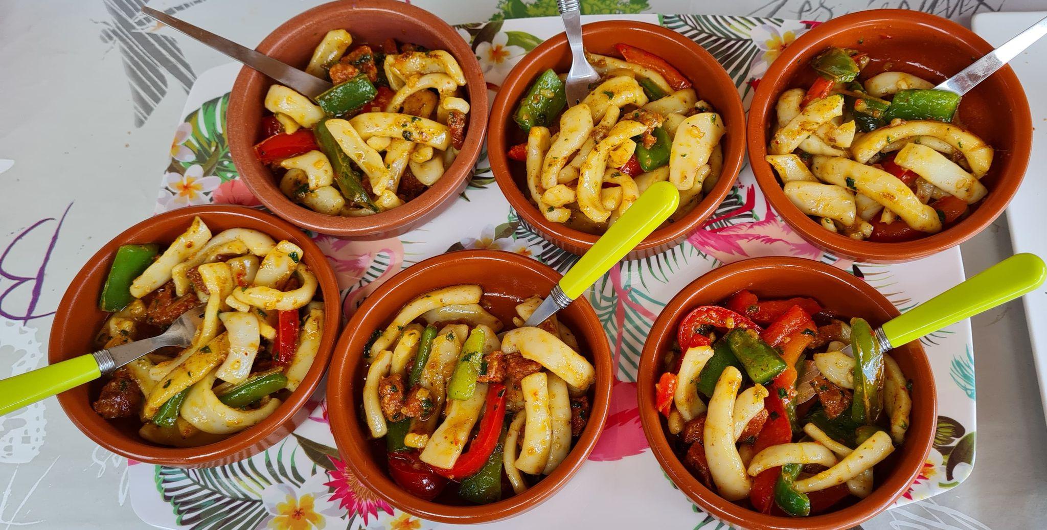 Calamars-Chorizo-Plancha