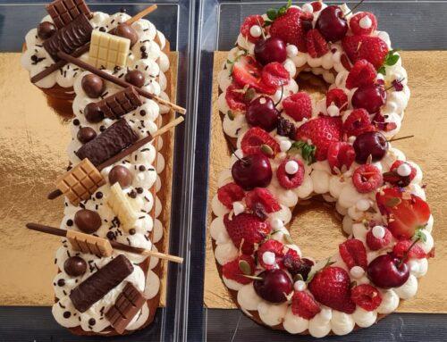 Number Cake aux Fruits et au Chocolat