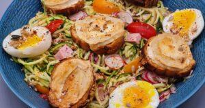 Spaghettis-Courgettes-Chevre